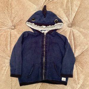 Zara Toddler Boys Knit Zip-up Hoodie